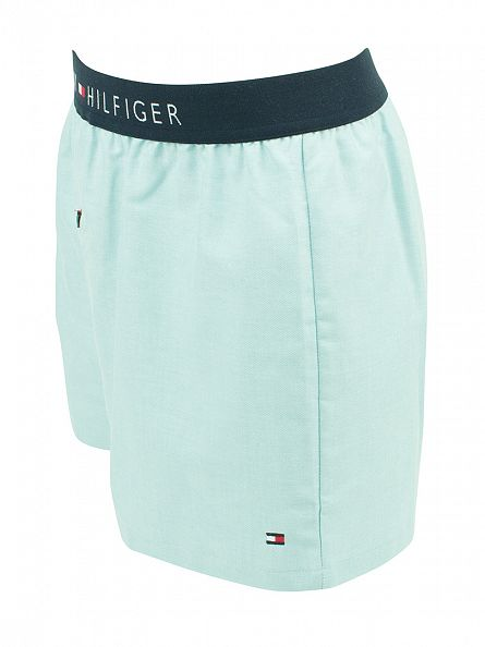 Tommy Hilfiger Jade Cream Icon Woven Oxford Boxer Trunks