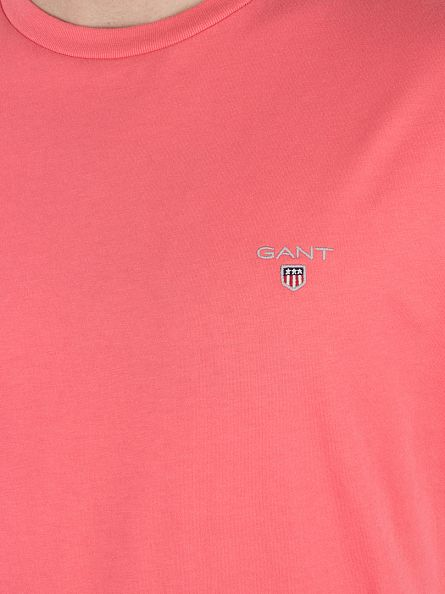 Gant Bright Coral Original Solid Logo T-Shirt
