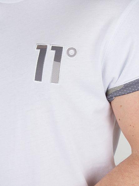 11 Degrees White Camo Logo T-Shirt