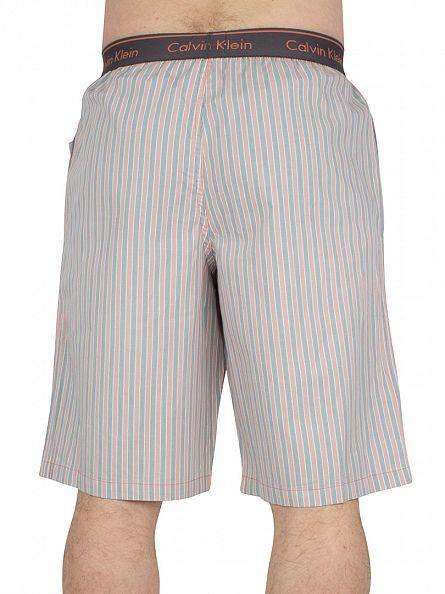 Calvin Klein Ashford Grey Mar Stripe Logo Waistaband Pyjama Shorts