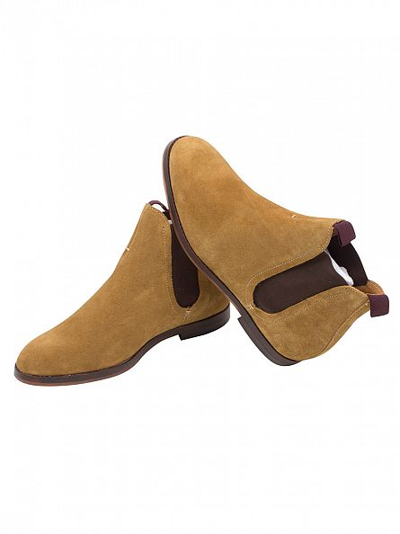 H by Hudson Sand Tamper Suede Boots
