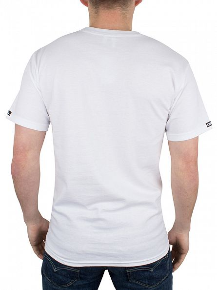 Crooks & Castles White Ballin Mane Logo Graphic T-Shirt