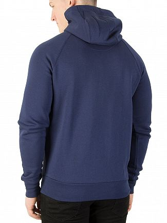 11 Degrees Navy Core Logo Zip Hoodie