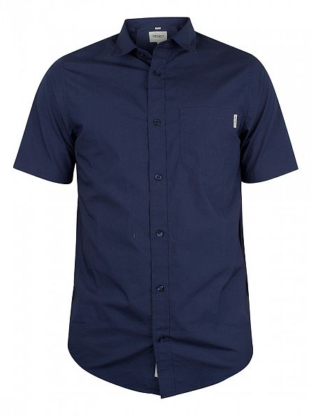 Carhartt WIP Blue Wesley Shortsleeved Shirt
