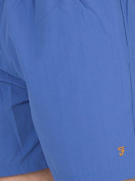 Farah Vintage Vivid Blue Monroe Paper Touch Logo Swim Shorts