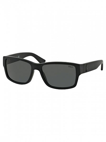 Polo Ralph Lauren Matte Black Acetate Man Sunglasses
