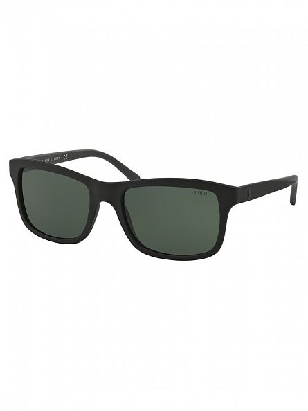 Polo Ralph Lauren Matte Black Injected Man Sunglasses