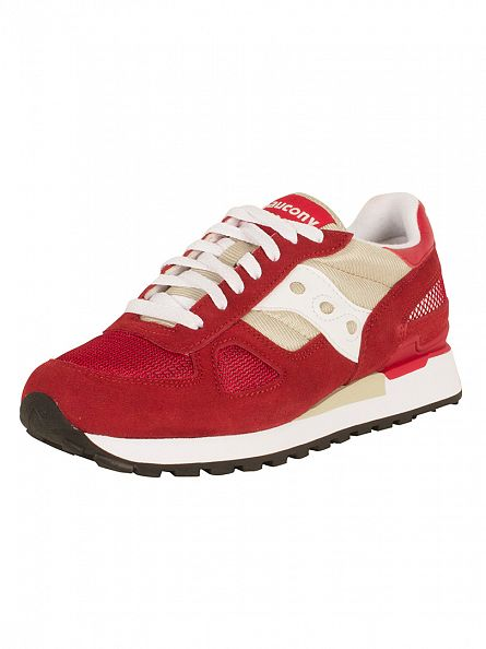 Saucony Sand/Red Shadow Original Trainers