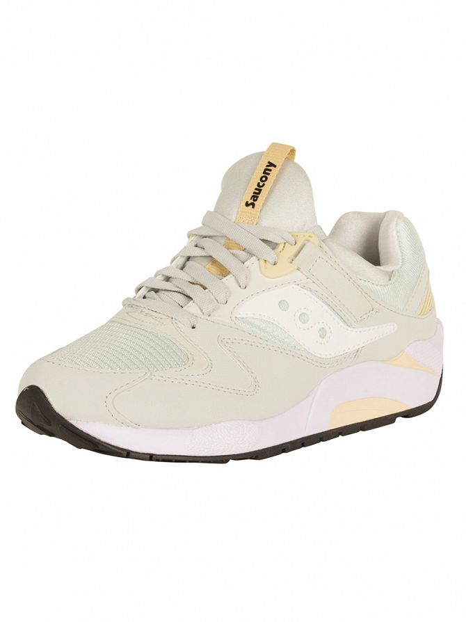 Saucony Light Grey Grid 9000 Trainers
