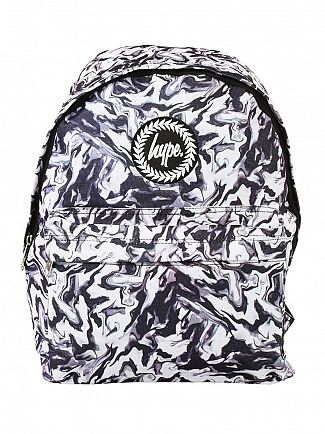 Hype White Smudge Logo Backpack
