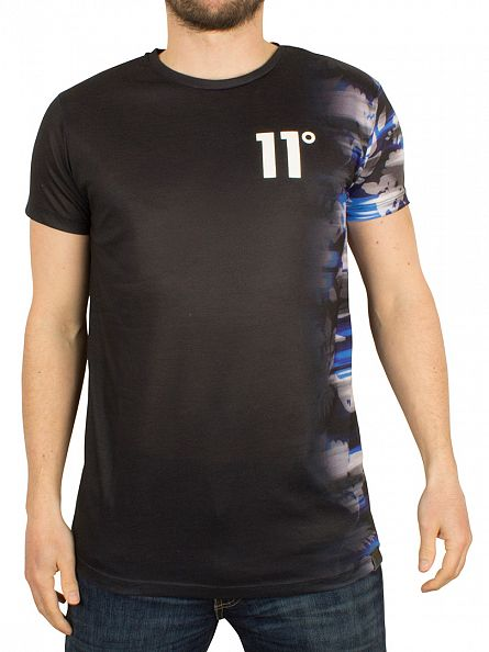 11 Degrees Black Electrical Fade Vertical Sub T-Shirt