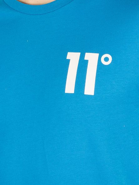 11 Degrees Cobalt Plain Logo T-Shirt