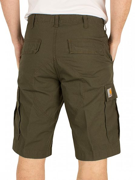 Carhartt WIP Cypress Rinsed Regular Logo Cargo Shorts