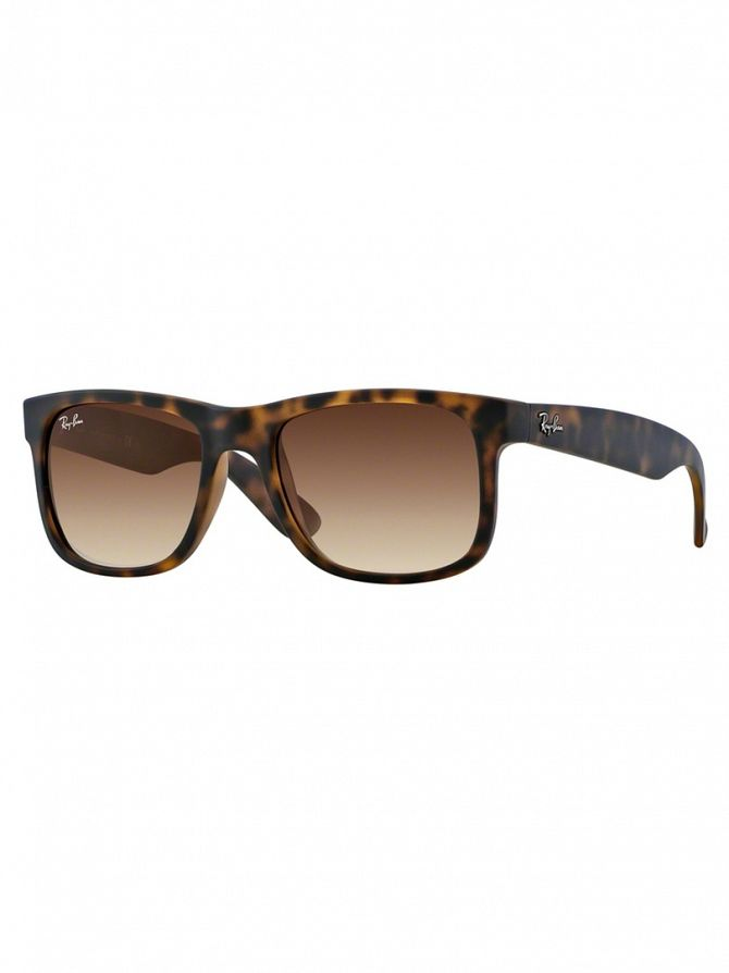 Ray-Ban Rubber Light Havana Justin Sunglasses RB4165