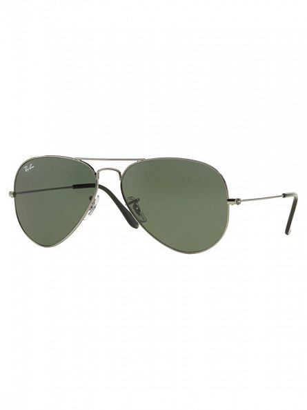 Ray-Ban Gunmetal Aviator Sunglasses RB3025