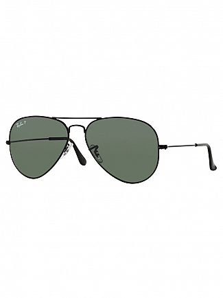 Ray-Ban Black Aviator Polarized Sunglasses RB3025