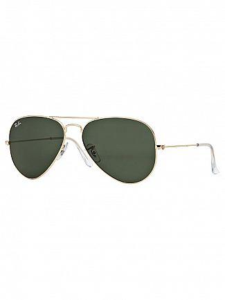 Ray-Ban Gold Aviator Sunglasses RB3025
