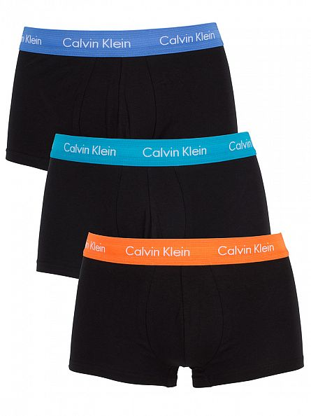 Calvin Klein Black 3 Pack Cotton Stretch Classic Fit Trunks