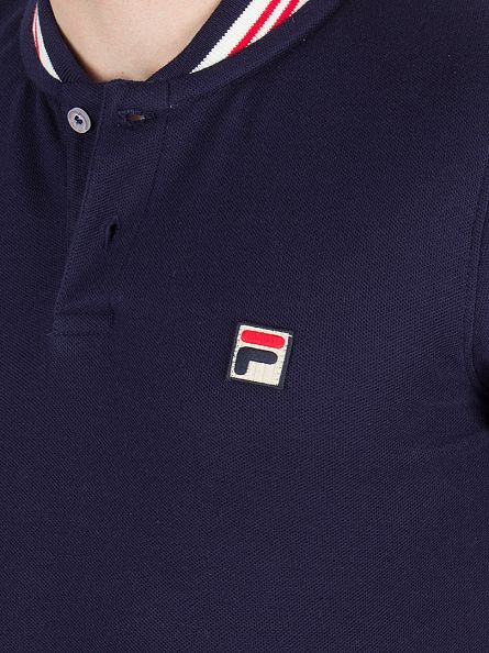 Fila Vintage Peacoat/Gardenia/Chinese Red Skipper Tipped Logo Polo Shirt