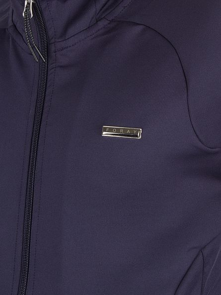 Foray Navy Turn Logo Zip Track Jacket