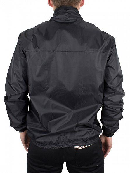 Fila Vintage Black Quayside Funnel Logo Jacket