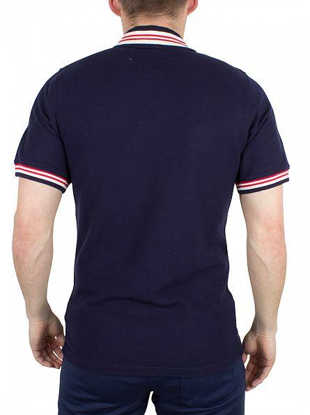 Fila Vintage Peacoat/Gardenia/Chinese Red Skipper Tipped Logo Polo Shirt