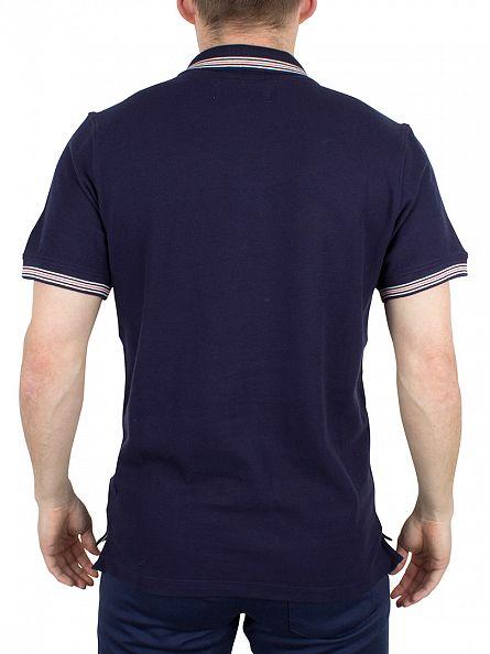 Fila Vintage Peacoat Matcho 3 Tipped Logo Polo Shirt