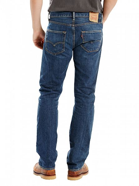 Levi's Dark Denim 501 Original Fit State Jeans