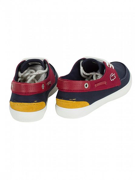 Lacoste Navy/Red Sumac 216 1 Cam Trainers