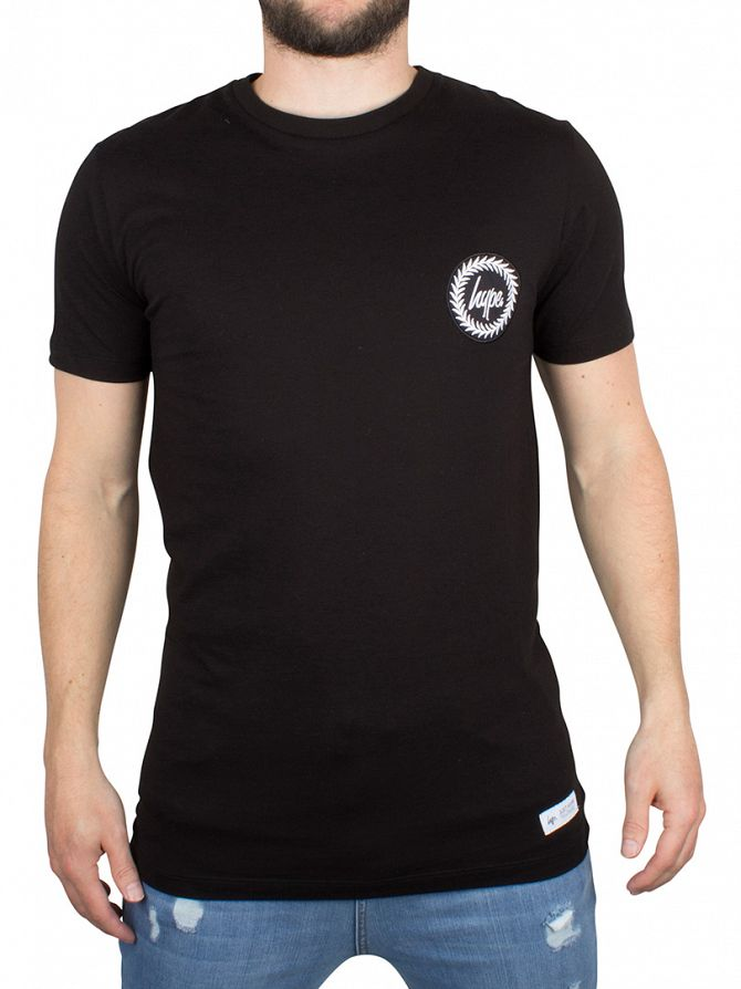 Hype Black Crest Logo T-Shirt