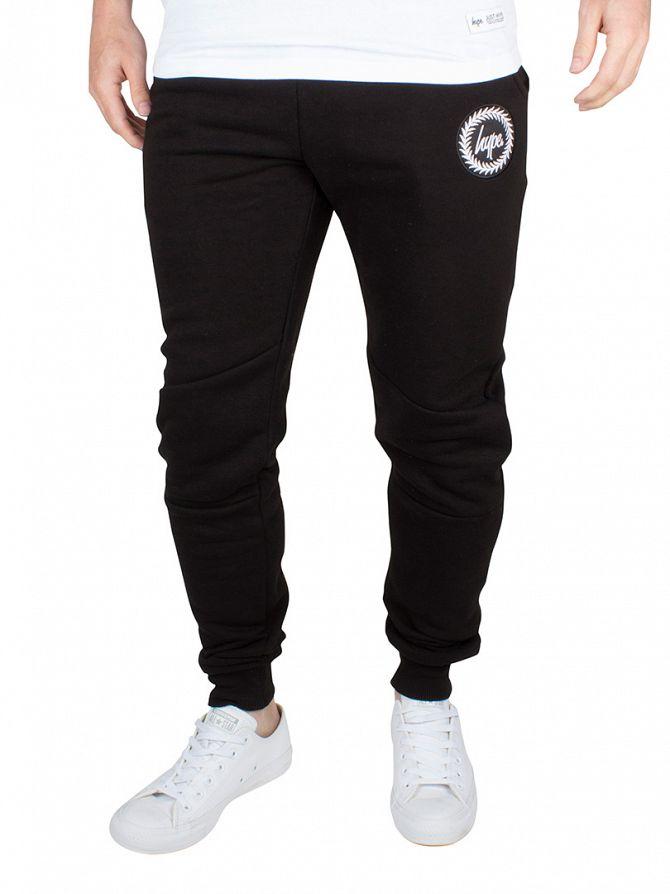 Hype Black Crest Logo Joggers