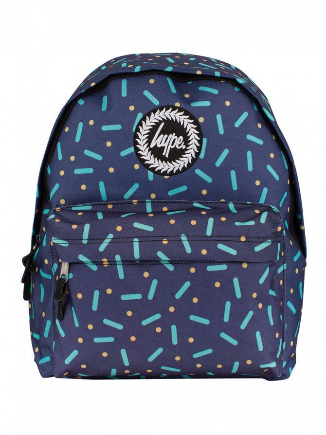 Hype Navy Alobe Line & Dot Backpack