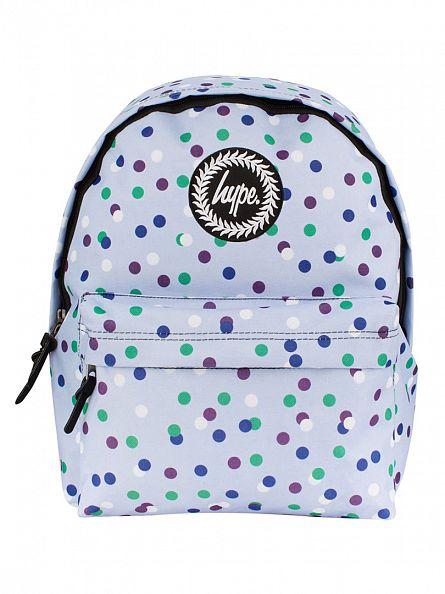 Hype Light Blue All Over Dotty Backpack