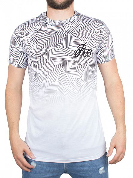 Bee Inspired White Scribble Fade Logo T-Shirt