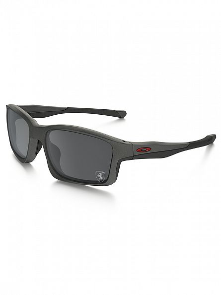 Oakley Matte Steel Ferrari Injected Man Sunglasses