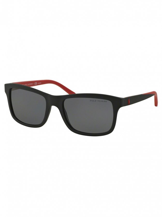 Polo Ralph Lauren Black/Red Polarized Injected Man Sunglasses