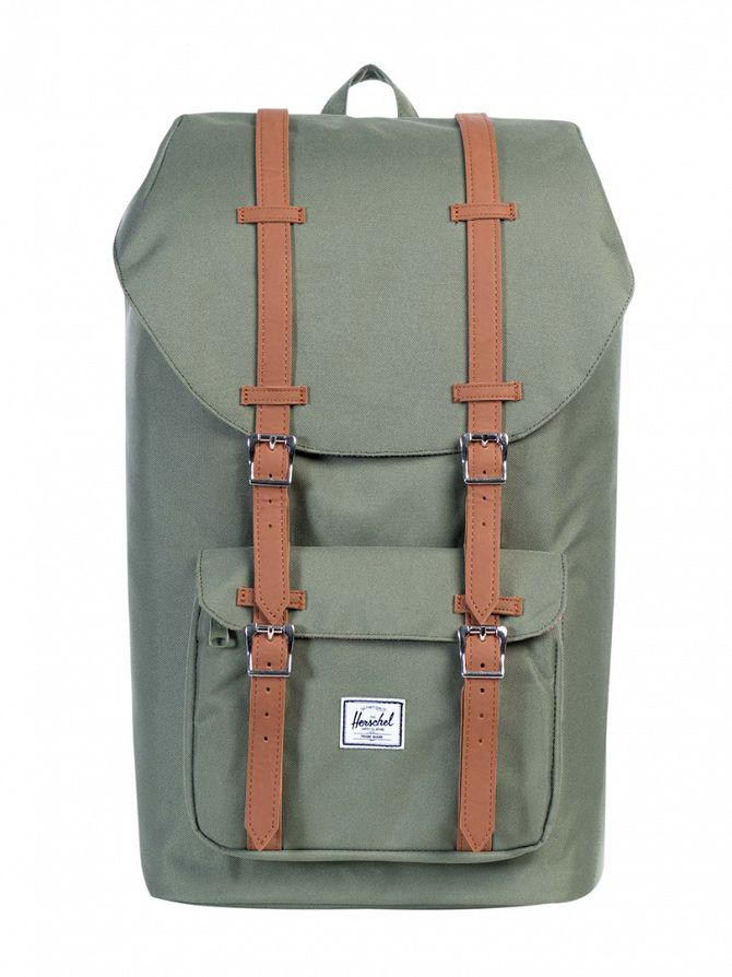 Herschel Supply Co Deep Litchen Green Little America Straps Backpack