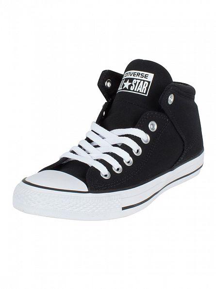 Converse Black/Black/White CTAS High Street HI Trainers
