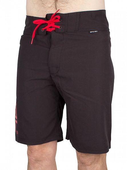 Animal Black Fixed Waist Board Shorts