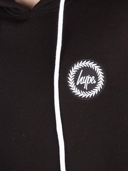 Hype Black Crest Logo Hoodie