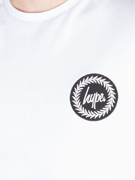 Hype White Longsleeved Crest Logo T-Shirt