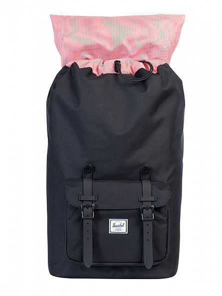 Herschel Supply Co Black Little America Straps Backpack