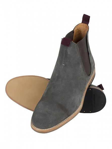 H by Hudson Charcoal Eldon (WSP) Suede Boots