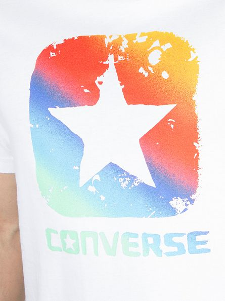 Converse White Gradient Boxstar Graphic T-Shirt