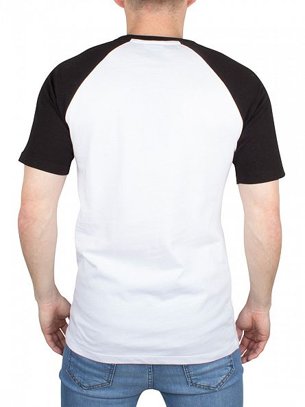 Hype White/Black Raglan Crest Logo T-Shirt