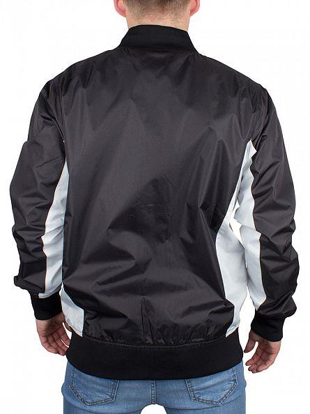 Nicce London Black Panel Ripstop Logo Bomber Jacket