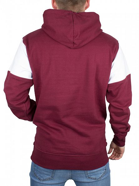 Nicce London Burgundy Ela Sleeve Panel Logo Hoodie