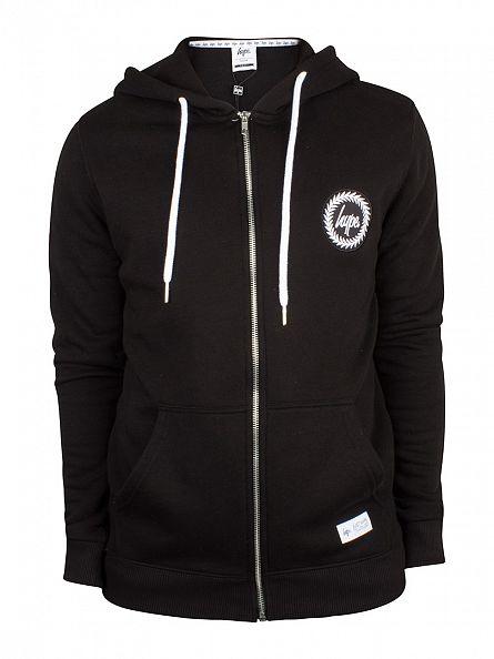 Hype Black Crest Logo Zip Hoodie