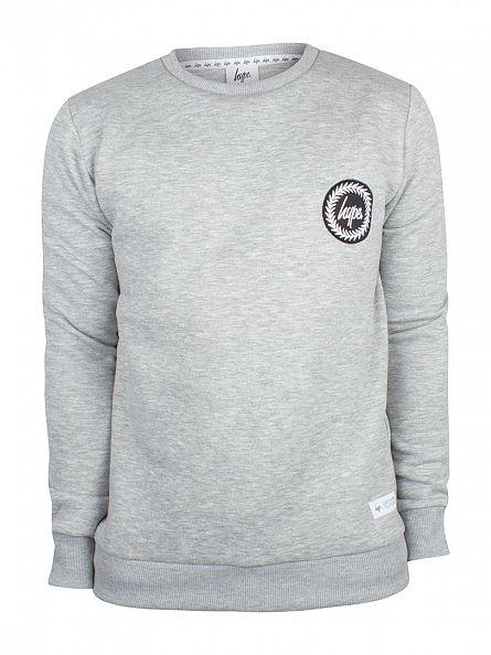 Hype Grey Crest Logo Sweatshirt
