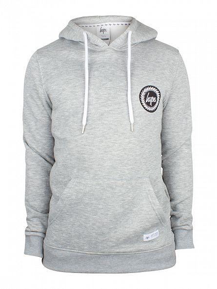 Hype Grey Crest Logo Hoodie